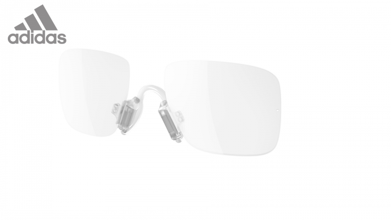 new product dba43 29c05 a545 - rimless optical insert for adidas sport glasses