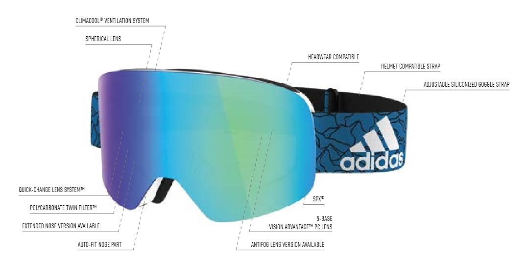 bienes de conveniencia gran selección de venta de bajo precio adidas backland spherical blue steel / ad86 - 6500, 129,00 €