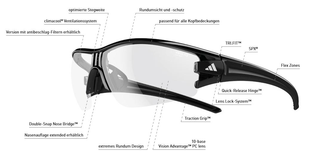 29ef1ee966c adidas sport glasses evil eye halfrim L dark grey black   a402 - 6063