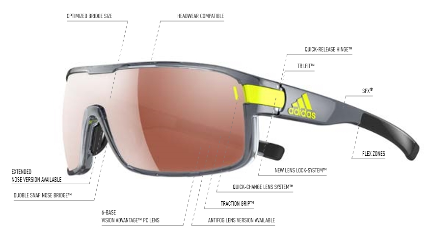 8881e560aa adidas sunglasses zonyk S black matt   ad04 - 6055